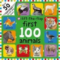 Lift-The Flap First 100 Animals - okładka książki