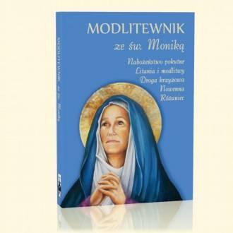 Modlitewnik ze św. Moniką - okładka książki