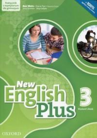 New English Plus 3. Gimnazjum Students Book. Podręcznik z repetytorium z płytą CD mp3 - okładka podręcznika