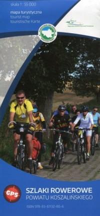 Szlaki rowerowe powiatu koszalińskiego mapa turystyczna 1:55 000 - okładka książki