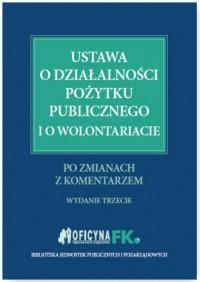 Ustawa o działalności pożytku publicznego - okładka książki