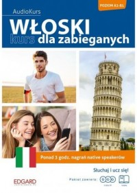 Włoski Kurs dla zabieganych - okładka podręcznika