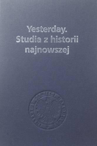 Yesterday. Studia z historii najnowszej. - okładka książki