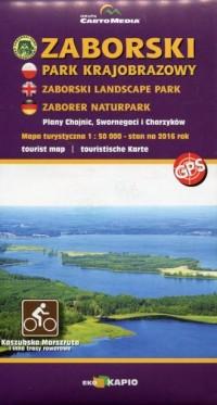 Zaborski Park Krajobrazowy mapa - okładka książki