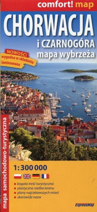 Chorwacja i Czarnogóra mapa samochodowo-turystyczna - okładka książki