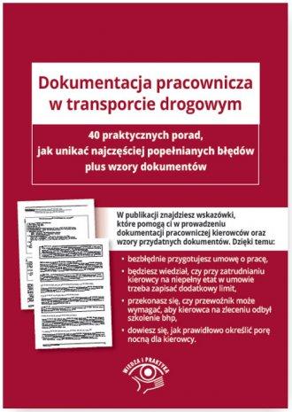 Dokumentacja pracownicza w transporcie - okładka książki