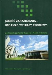 Jakość zarządzania - refleksje, - okładka książki