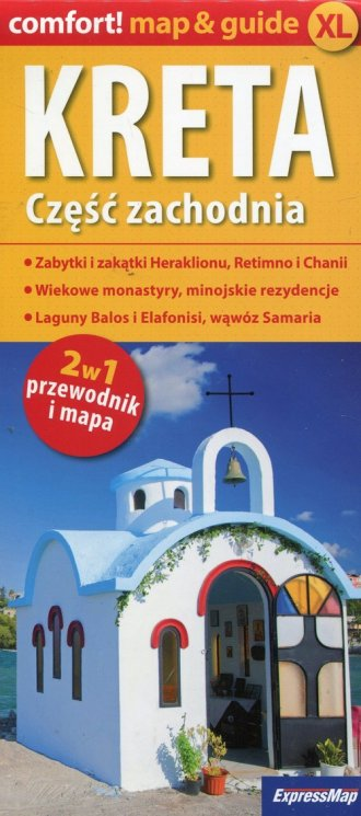 Kreta. Część zachodnia 2w1 przewodnik - okładka książki