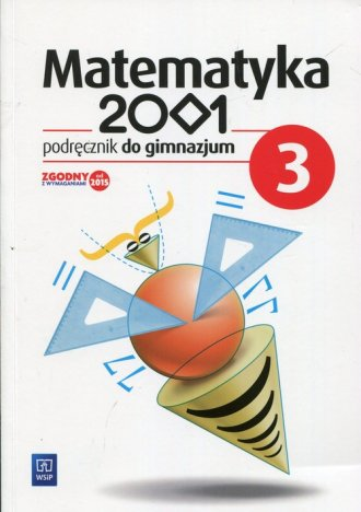 Matematyka 2001 3. Gimnazjum. Podręcznik - okładka podręcznika