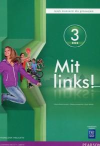 Mit links. Gimnazjum. Język niemiecki 3. Podręcznik wieloletni z płytą CD - okładka podręcznika