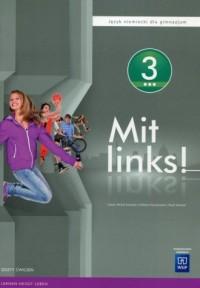 Mit links. Gimnazjum. Język niemiecki 3. Zeszyt ćwiczeń - okładka podręcznika