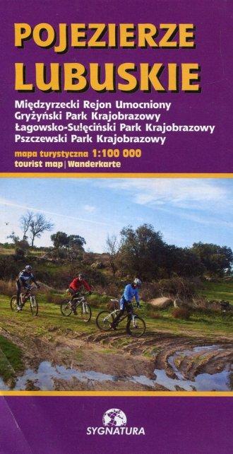 Pojezierze Lubuskie mapa turystyczna - okładka książki