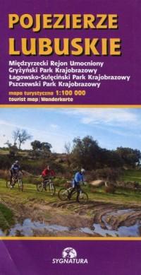 Pojezierze Lubuskie mapa turystyczna 1:100 000 - okładka książki