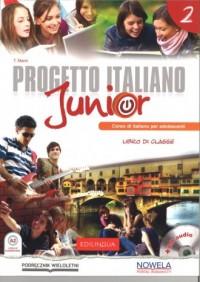Progetto Italiano Junior 2. Podręcznik (+ CD) - okładka podręcznika