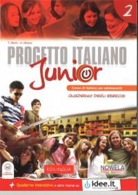 Progetto Italiano Junior 2. Zeszyt ćwiczeń - okładka podręcznika