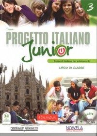 Progetto Italiano Junior 3. Podręcznik (+ CD) - okładka podręcznika