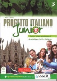Progetto Italiano Junior 3. Zeszyt ćwiczeń - okładka podręcznika