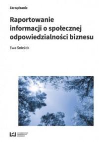 Raportowanie informacji o społecznej - okładka książki