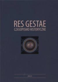 Res Gestae. Czasopismo Historyczne - okładka książki