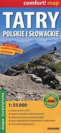 Tatry Polskie i Słowackie mapa - okładka książki
