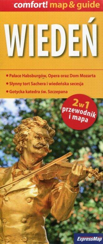 Wiedeń 2w1 przewodnik i mapa - okładka książki