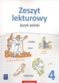 Zeszyt lekturowy 4. Szkoła podstawowa. Język polski - okładka podręcznika