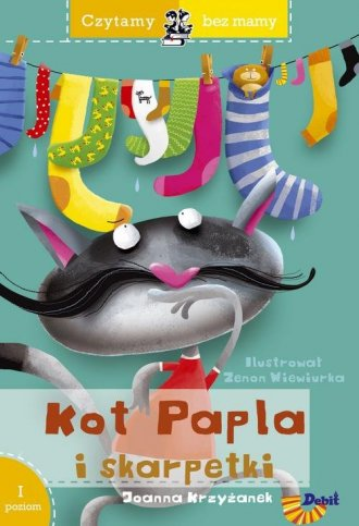 Czytamy bez mamy Kot Papla i skarpetki - okładka książki