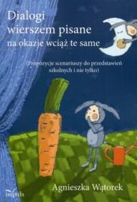 Dialogi wierszem pisane na okazje - okładka książki