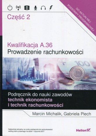 Kwalifikacja A.36 Prowadzenie rachunkowości. - okładka podręcznika