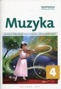 Muzyka 4. Szkoła podstawowa. Zeszyt ćwiczeń - okładka podręcznika