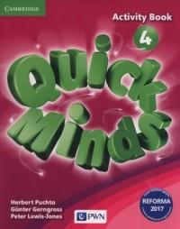 Quick minds 4. Szkoła podstawowa. - okładka podręcznika
