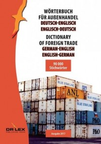 Dictionary of foreign trade German-English English-German - okładka książki