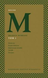 Dramaty wybrane Tom 1 - Molier - okładka książki