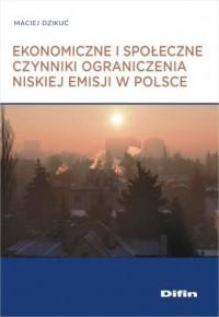 Ekonomiczne i społeczne czynniki - okładka książki