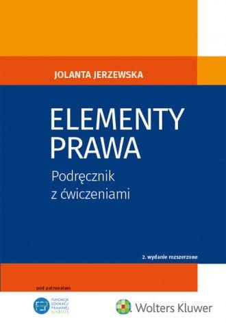 Elementy prawa. Podręcznik z ćwiczeniami - okładka książki