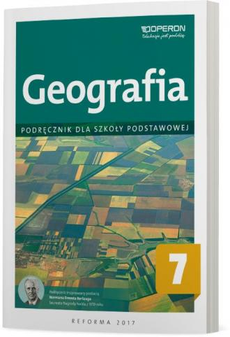 Geografia 7. Szkoła podstawowa. - okładka podręcznika
