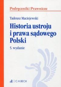 Historia ustroju i prawa sądowego - okładka książki