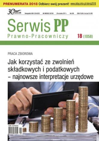 Serwis Prawno-Pracowniczy 18/2017. - okładka książki