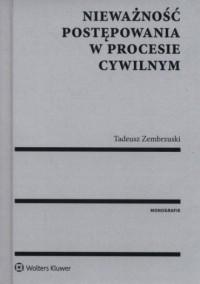 Nieważność postępowania w procesie - okładka książki
