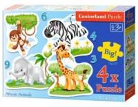 Puzzle 4W1 Zwierzęta afrykańskie - zdjęcie zabawki, gry