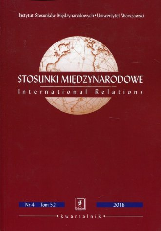 Stosunki Międzynarodowe Nr 4 tom - okładka książki