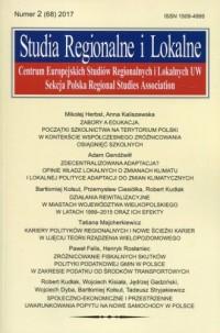Studia Regionalne i Lokalne nr - okładka książki
