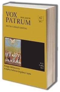 Vox Patrum. Tom 67 - okładka książki