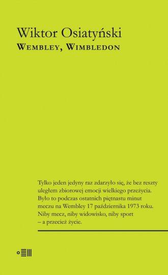 Wembley, Wimbledon - okładka książki