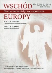 Wschód Europy vol. 2 nr.22016 Studia - okładka książki