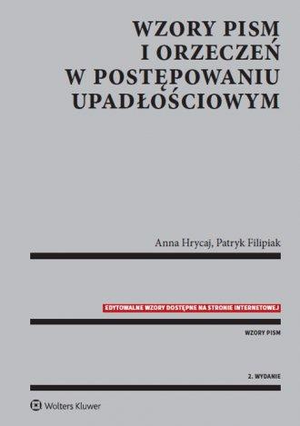 Wzory pism i orzeczeń w postępowaniu - okładka książki