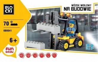 Klocki Blocki Na budowie Wózek - zdjęcie zabawki, gry