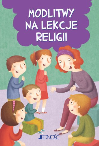Modlitwy na lekcje religii - okładka książki