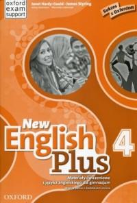 New English Plus 4. Gimnazjum. Materiały ćwiczeniowe - okładka podręcznika