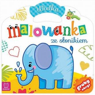 Wielka malowanka ze słonikiem - okładka książki